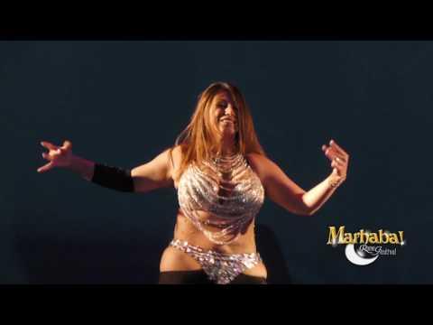 Aziza Cairo, Egyptian belly dancer, for Marhaba Rome Festival 10, الراقصه عزيزه - رقص شرقى