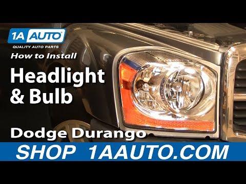 How To Install Replace Headlight and Bulb Dodge Durango 04-06 1AAuto.com