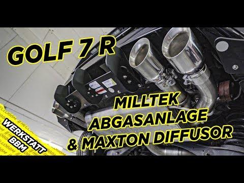 VW Golf 7 R  Milltek Abgasanlage   Downpipe   by BBM Motorsport