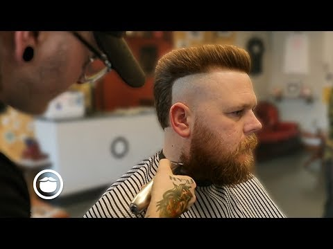 Modern Mullet Haircut with Strong Beard Shaping