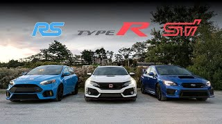 Video 2018 Subaru STi vs Civic Type R vs Focus RS Review - Battle of the Year MP3, 3GP, MP4, WEBM, AVI, FLV Oktober 2017