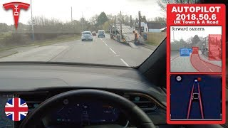 Tesla Autopilot in UK Town & A Roads - Can it avoid oncoming / overtaking drivers?! by Pokemon Cards