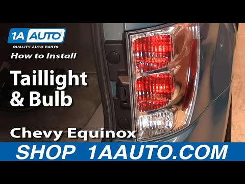 How To Install Replace Taillight and Bulb Chevy Equinox 05-09 1AAuto.com