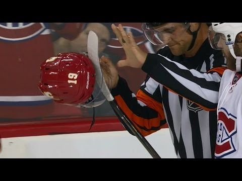 Video: Gotta See It: Galchenyuk gets stick caught in Tkachuk's visor