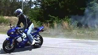 8. Burnout fun with 2001 Yamaha R1
