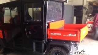 5. KUBOTA RTV 1140 with cab and front broom