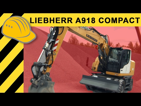 Liebherr Bagger A 918 compact Litronic - Mobilbagger Test & Walkaround