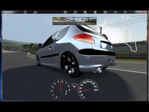 Peugeot 206 al corte y probando sonidos de escape! - LFS