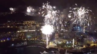Fireworks filmed with a drone...