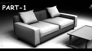 Modeling simple sofa 3DS MAX 2015 tutorial
