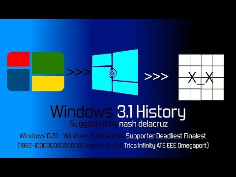 Windows 3.1 History (1982-100000000000000 Forever End of Trids Infinity ATE EEE Omegaport)
