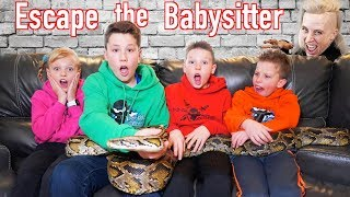 Video Escape the Babysitter! Ninja Kidz vs Babysitter Escape Room! MP3, 3GP, MP4, WEBM, AVI, FLV Januari 2019
