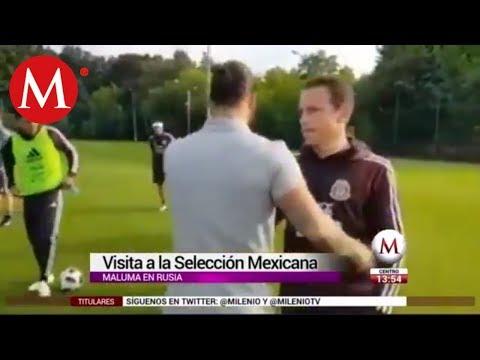 Maluma visita a la Selección Mexicana en su primer entrenamiento (VÍDEO)