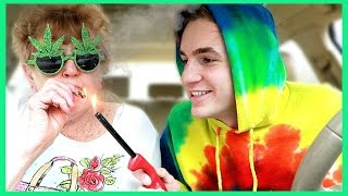 """Celebrating 4/20 with my grandma! Wouldn't want to smoke for the first time with anyone else:)JOIN THE DRONIAK FAMILY!: http://bit.ly/1UV2DvZBUSINESS INQUIRES: business@bigfra.meFOLLOW ME TO KEEP UPDATED :) -------------------------------------------------------------------twitter: https://twitter.com/KevinDroniakinstagram: https://www.instagram.com/kevindroniak/LILL's instagram: https://www.instagram.com/grandma_droniaksnapchat: kdron64I HAVE A VLOG CHANNEL TOO! BE SURE TO SUBSCRIBE :Phttps://www.youtube.com/user/waitimkevin---------------------------------------------------------------------THESE ARE MY PROMO CODES. YOUR WELCOME!FREE uber ride with my code: """"KEVIND1363""""LOVE YOU ALL SO MUCH!"""