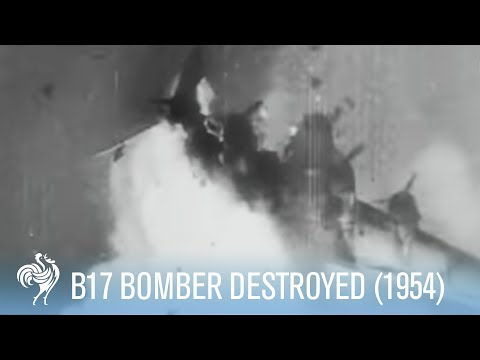 B17 - Nike Rocket Destroys B17 Bomber (super dramatic music!). Worth watching until the end as a super missile hits a B17 bomber and the music goes in to over driv...