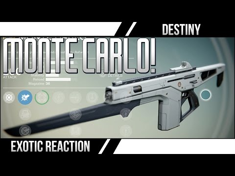 exclusive - Destiny Exotic Monte Carlo! The Monte Carlo is a Destiny Playstation 4 Exclusive Weapon! Subscribe for More Destiny Videos ○▻SUBSCRIBE http://bit.ly/1cNeuvc Daily Destiny Streams ○▻...