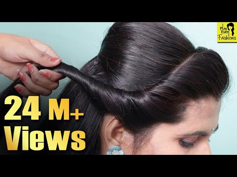 Latest hairstyles for party/Wedding ★ Easy hairstyle for beginners step by step ★ hair style girl