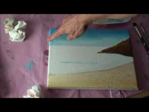 Malen mit Acryl: Romantische Küstenlandschaft (Teil 1/2)