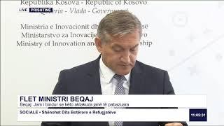 RTK3 Drejtpërdrejt - Flet ministri Beqaj 20.06.2019