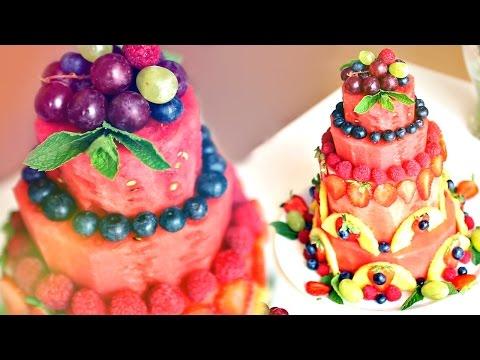 Как сделать из арбуза торт