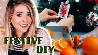 Video Easy Festive DIY Ideas | Zoella MP3, 3GP, MP4, WEBM, AVI, FLV November 2018