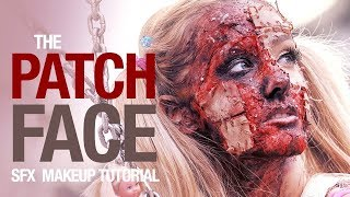 Patch face sfx makeup tutorial - YouTube