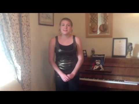 Rebecca Hart singing Isle of Hope