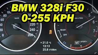 8. 2014 BMW 328i F30 / Top speed 0-255 km/h (155 MPH)