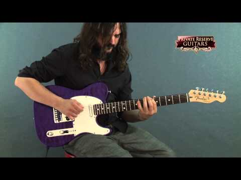 Custom (musician) - Filmed at Musician's Friend Private Reserve Guitars in September 2014. For more information: http://www.musiciansfriend.com/guitars/fender-custom-shop-custom-deluxe-telecaster-electric-guitar-with.