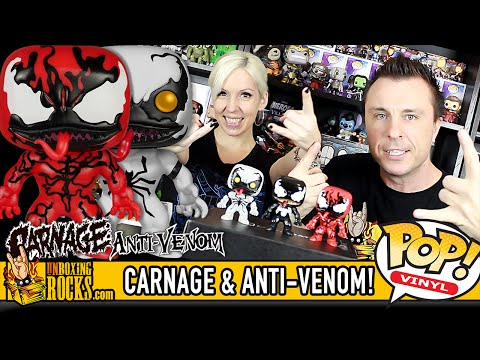 CARNAGE and ANTI-VENOM Funko Pop Vinyl Figures – Unboxing Review