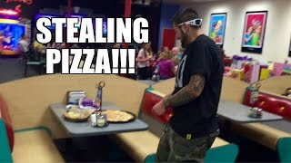 CATFISH GIRL STALKS Grim at BIRTHDAY PARTY at Chuck E. Cheese