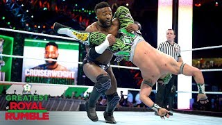 Kalisto unleashes a whirlwind aerial combo on Cedric Alexander: Greatest Royal Rumble (WWE Network)