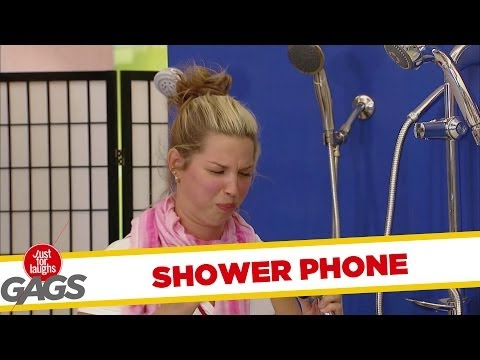 Shower Phone Sprays Their Face! - Youtube