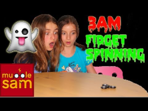 DO NOT SPIN A FIDGET SPINNER AT 3AM!! SCARY CHALLENGE | Mugglesam