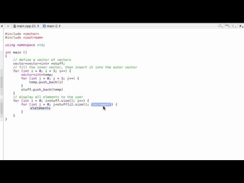 Vector of vectors (C++ programming tutorial)