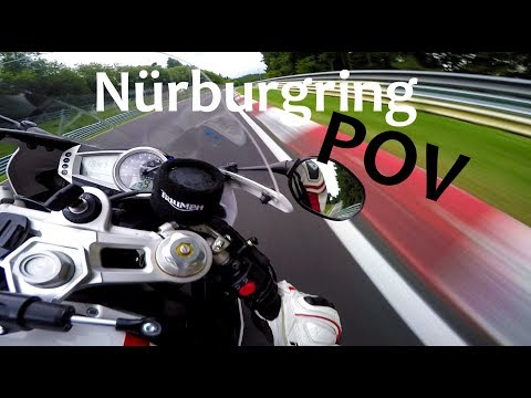 Awesome POV ! Motorcycle on dangerous Nürburgring / Nordschleife
