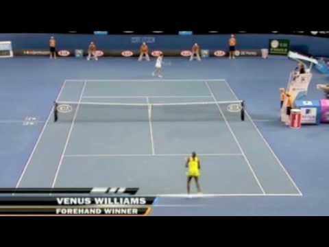 Venus Williams backhand shot