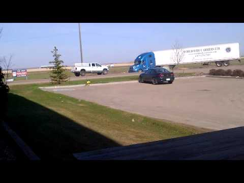 dodge cummins 2500 pulling out a stuck semi