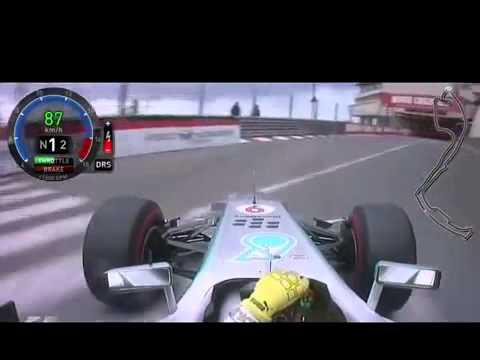 f1 monaco del 2013 - ecco il giro che vale la pole di nico rosberg