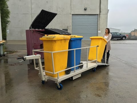Electrodrive's Powered Bin Trolley demonstration
