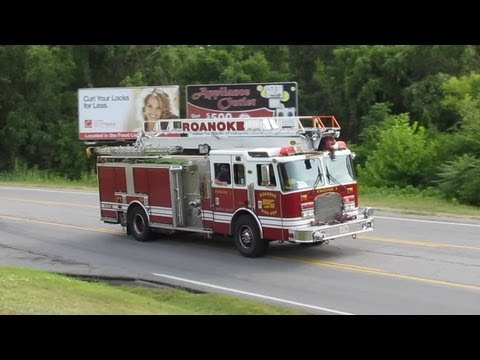 Roanoke City Engine 3 Responding