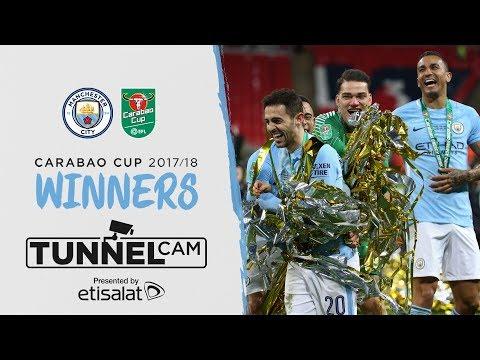 WEMBLEY TUNNEL CAM | Carabao Cup Final 2018 | Arsenal 0-3 Man City