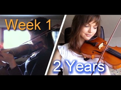 A Beginner Violin Player Shares Two Years of Her Progress in Under Five