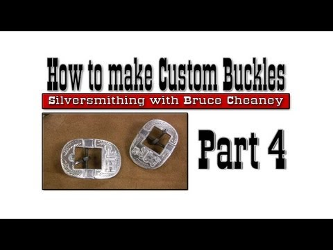 0 How to make Custom Buckles part 4