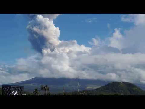 ERUPTION - Mayon volcano in Albay Philippines belched out black smoke on May 7, 2013 @ 8AM. It reached about 3 kms high and still rising. No official report yet from PH...
