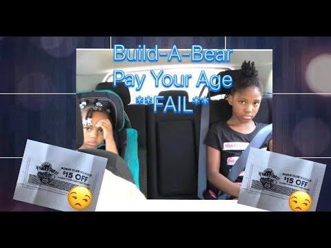 Build-A-Bear Pay Your Age Event FAIL!