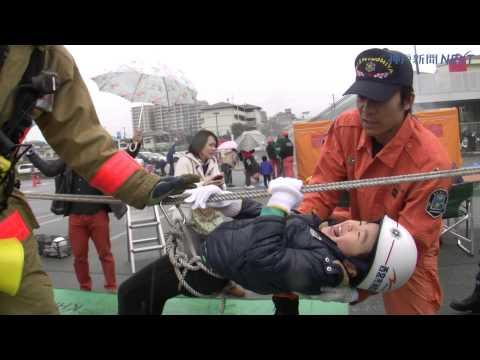 子どもが火災予防訓練 ららぽーと甲子園