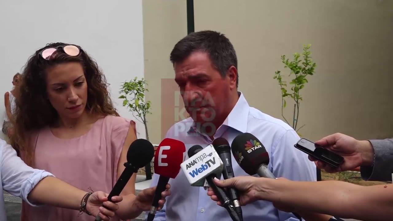 Eπίσκεψη του δημάρχου Αθηναίων Γιώργου Καμίνη στο κτίριο του νέου 2ου Γυμνασίου Αθηνών