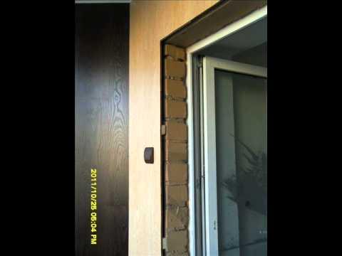 Укладка ламината на стену / дизайн интерьера.