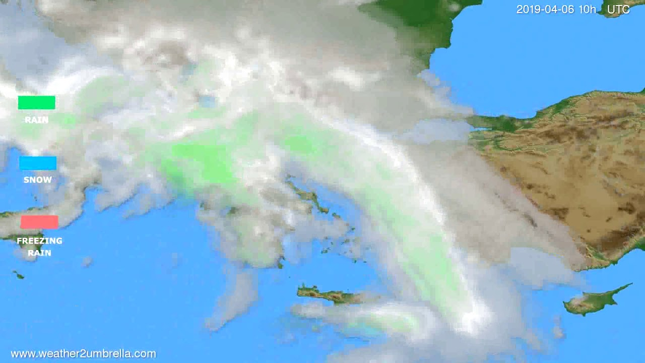 Precipitation forecast Greece // modelrun: 00h UTC 2019-04-03